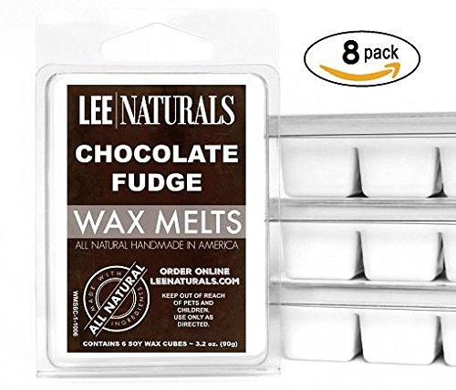 (Lee Naturals Classic Collection - (8 Pack) CHOCOLATE FUDGE BROWNIE Premium All Natural 6-Piece Soy Wax Melts. Hand Poured Naturally Strong Scented Soy Wax Candle Cubes)