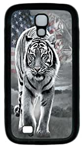 Cool Painting Samsung Galaxy I9500 Case, Samsung Galaxy I9500 Cases -Patriotic Tiger Custom PC Soft Case Cover Protector for Samsung Galaxy S4/I9500