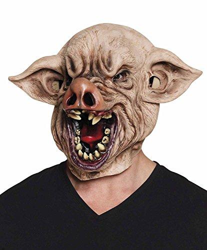 Adultes De Halloween Sanglante Tête Mal De Latex De Porc Visage Masque Accessoire Costumée
