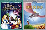 Disney Classic Animated 2-Movie Bundle Dumbo 75th Anniversary Edition (Blu-ray/DVD/Digital HD) & Alice in Wonderland 65th Anniversary Edition (Blu-ray/DVD/Digital HD) [US Region 1]