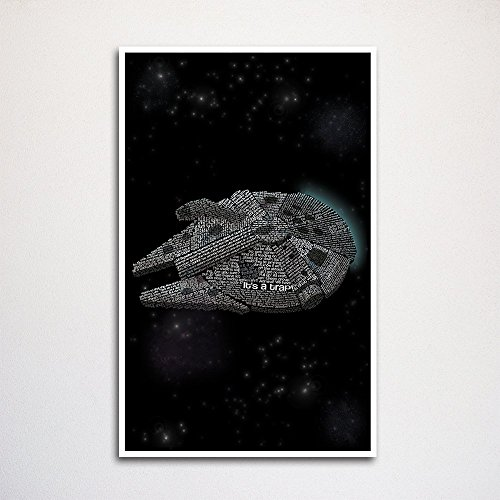 with Millennium Falcon Posters design