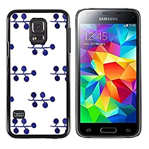 iKiki Tech / Estuche rígido - Pattern Blueberry White Minimalist - Samsung Galaxy S5 Mini, SM-G800, NOT S5 REGULAR!