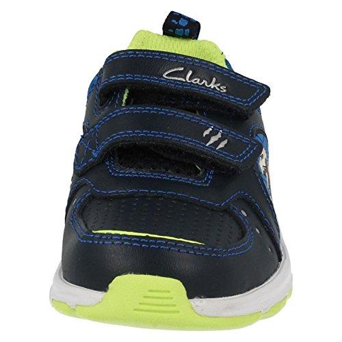 Clarks Pass Roar Inf - Zapatillas de Piel para niño rojo rojo Navy