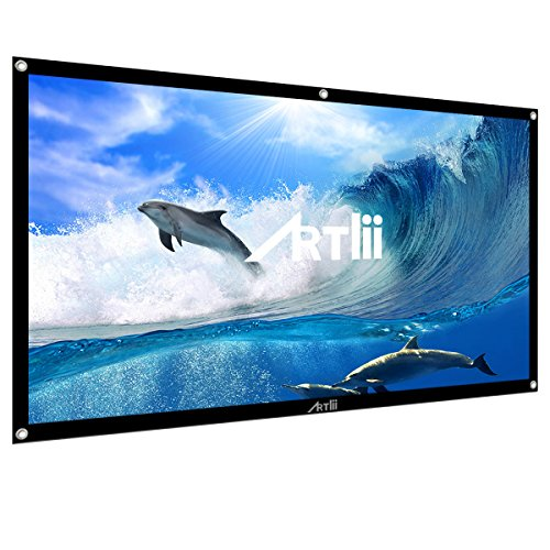 Artlii Portable Projector Screen 100 inch 16:9 Indoor Outdoor Home Cinema Movie Screen by ARTlii