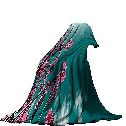 QINYAN-Home Manta (50 x 30 cm), impresión Digital, Floral, Floral, Aroma a Flores, Esencia de Flores, Hojas artísticas,...