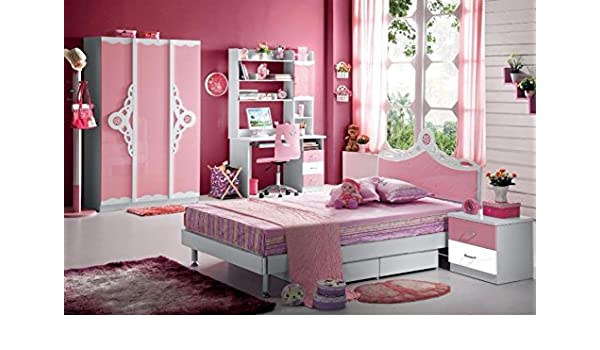 Amazon.com - Kids Room Furniture Set Contemporary Design - Pink Theme -