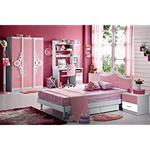 Kids Room Furniture Set Contemporary Design – Pink Theme