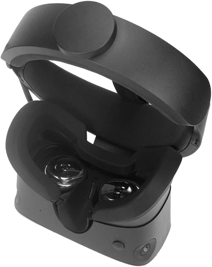 Simumu Silicone Protective Face Cover  VR Lens Cover for Oculus Rift S Headset Sweatproof Waterproof (Black)