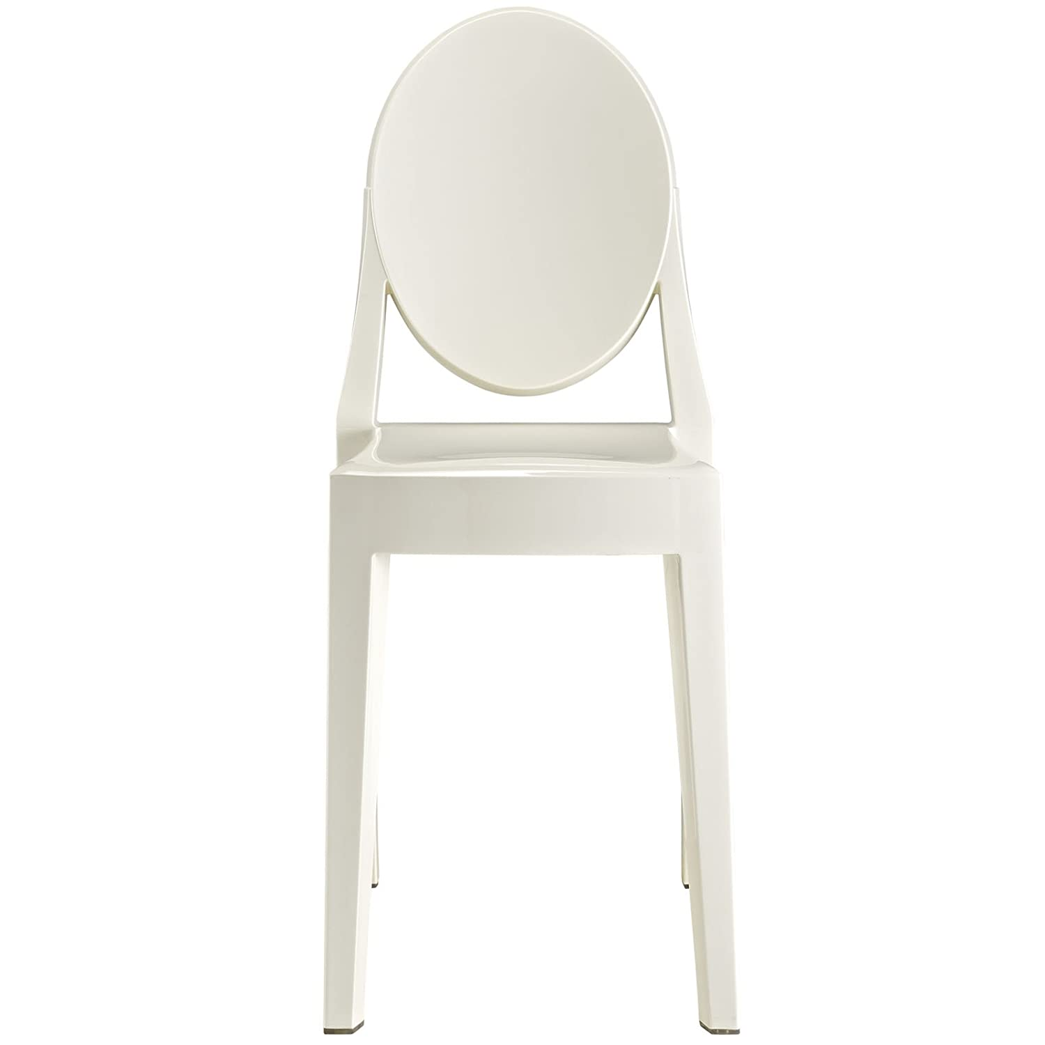 Exceptionnel Amazon.com   Modway Casper Modern Acrylic Dining Side Chair In White    Chairs