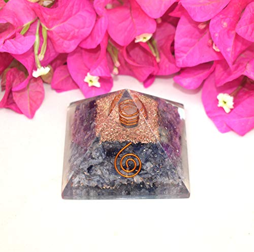 Orgone Energy Generator Pyramid | Natural Blue Aventurine Orgonite Pyramid | Emf Protection | Reiki Healing Home Office Gift Wellness Gemstone Prosperity Health Chakra Balancing (Generator Price In India For Home Use)
