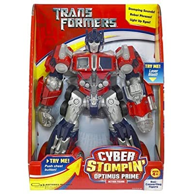 Hasbro Transformers Cyber Stompin' Optimus Prime Action Figure: Toys & Games