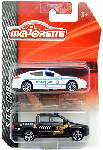 Porsche Panamera Bulgarian Police & Volkswagen Amarok Majorette 2 Pieces Set