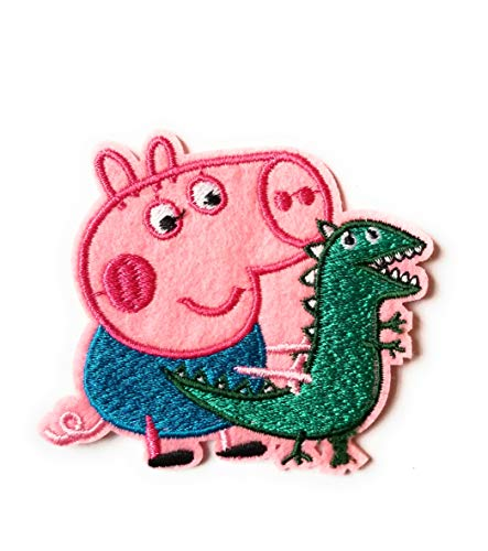 Peppa Pig Iron On Birthday Patch (George Pig/Dinosaur) -