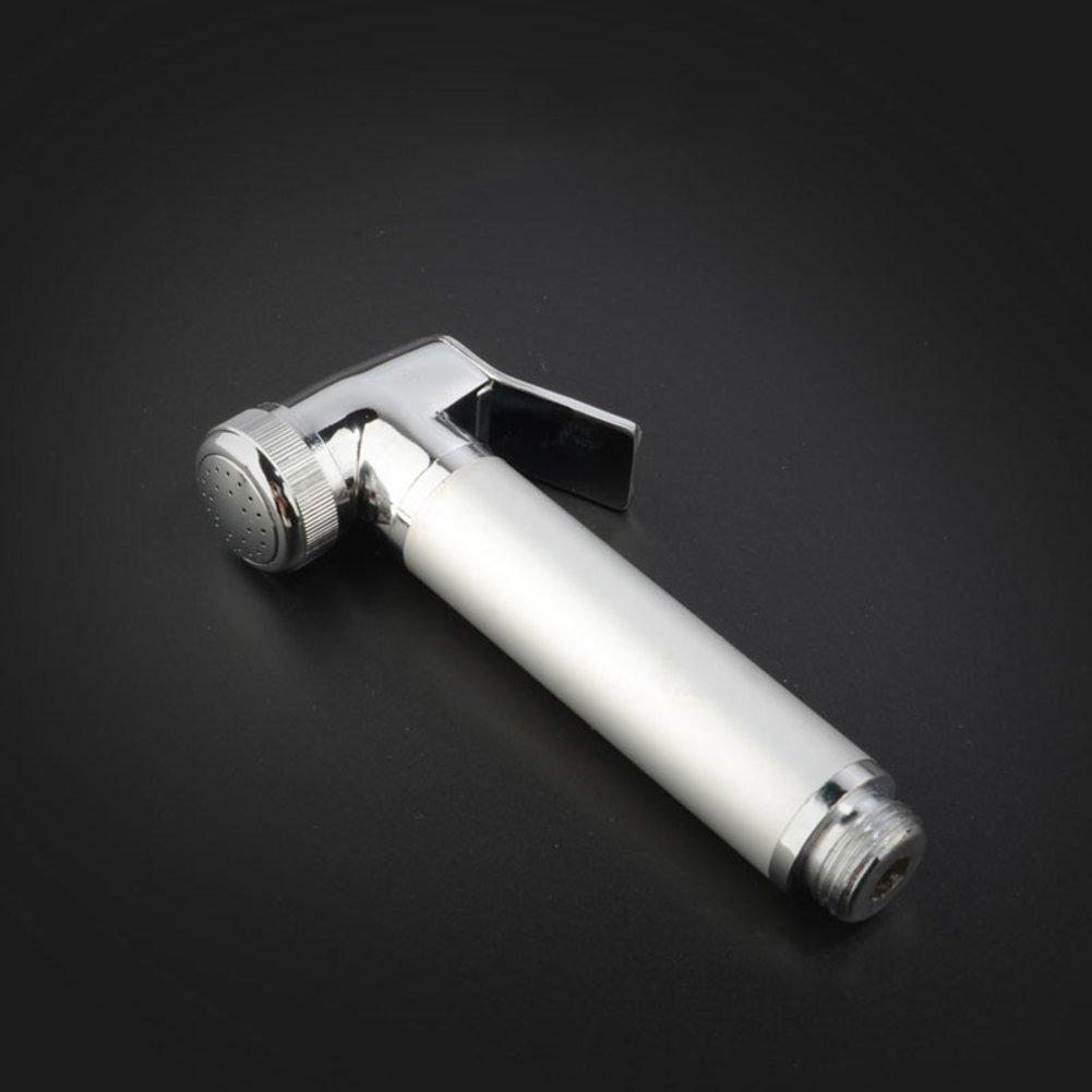 Grifos de bidé spray, Shattaf handheld mano bidet rociador para wc presurizado resistente a óxido y corrosión pistola de aerosol de inodoro mejor utilizado para la higiene personal y baño de inodoro spray-La Plata XIAO YISHI