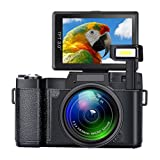 SEREE Digital Camera Camcorder Full HD 1080P 24.0 Megapixels 4x Digital Zoom Retractable Flash light 3 Inch Screen
