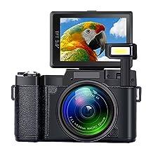 SEREE Digital Camera Camcorder Full HD 1080P 24.0 Megapixels 4x Digital Zoom Retractable Flash light 3 Inch Screen