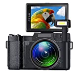Digital Camera SEREE Camcorder Full HD 1080P 24.0 Megapixels 4x Digital Zoom Retractable Flash light 3 Inch Screen