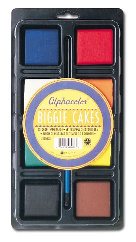 Quartet Alphacolor Concentrated Tempera Biggie Paint Cake Tray Set, 2 x 2.5 x 0.5 Inches, Multi-Colored, 8 Colors per Pack (Biggie Pack)