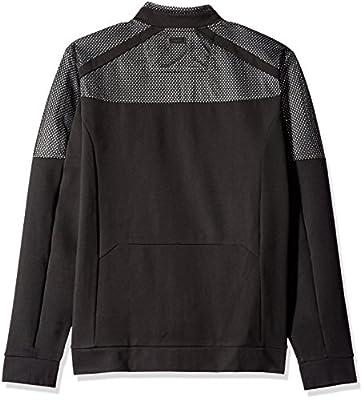 Calvin Klein Men's Slim Fit Full Zip Ponte and Mesh Sweater