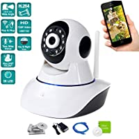 iSmart 720P HD Wifi Wireless IP Camera Pan and Tilt Indoor Home Security Surveillance Video, Two Way Audio Night Vision Viewing