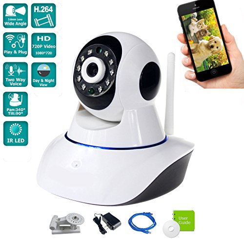 519gZXW7W5L - iSmart 720P HD Wifi Wireless Ip Camera Pan and Tilt Indoor Home Security Surveillance Video, Two Way Audio Night Vision Viewing