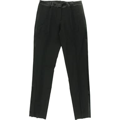 037c899ea2a Marlowe Women's Slim Wool Tuxedo Pant with Satin Stripe by Dessy Group at  Amazon Women's Clothing store: