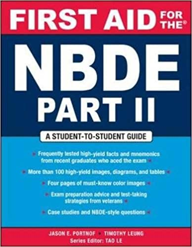 First Aid for the NBDE Part II (First Aid Series) (Pt  2