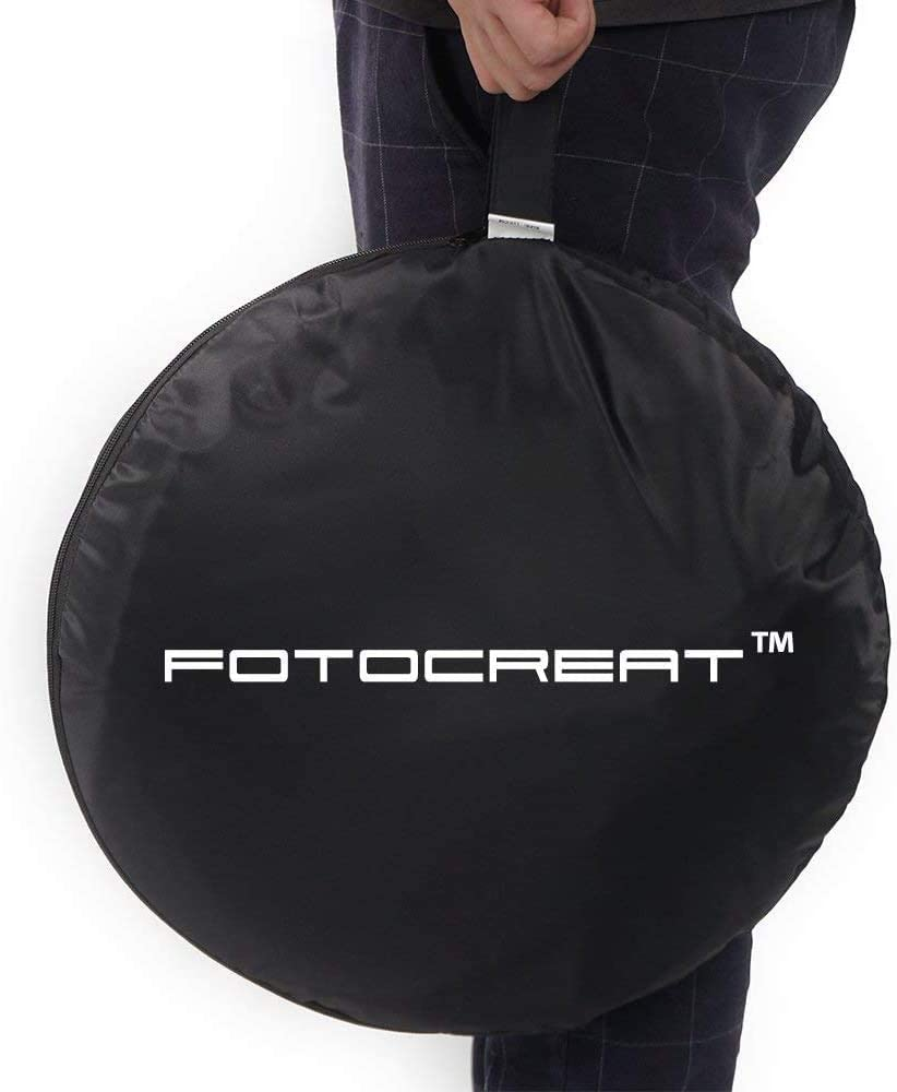 FOTOCREAT-5x6.5ft 1.5x2m Black//White Double-Sided Pop-Up Collapsible Backdrop Reflector Photo Backdrop Background for Video /& Photo