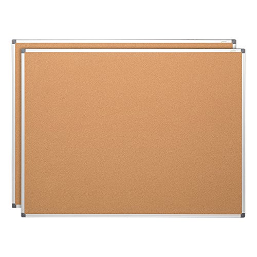 Learniture LNT-127-36482-SO  Natural Cork Board w/ Aluminum Frame , Brown (Pack of 2) by Learniture