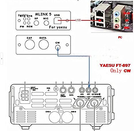 Dedicated radio connector for YAESU FT-818 FT-857D FT-897D FT-817 \//857\897\