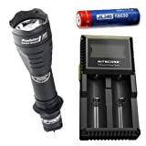 Combo: Armytek Predator Pro v3 XP-L Hi Warm w/ D2 Charger & Jetbeam 3400mAh Battery