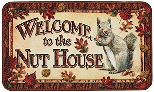 (Crystal Emotion Doormat Mat Welcome to Nut House Machine Washable Rug Decorative Doormat Indoor/Outdoor Doormat Non-Woven Fabric Non Slip 23.6 x15.7inch)