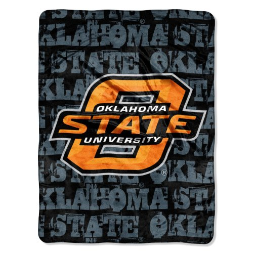 - NCAA Oklahoma State Cowboys 46-Inch-by-60-Inch Micro-Raschel Blanket, Grunge Design