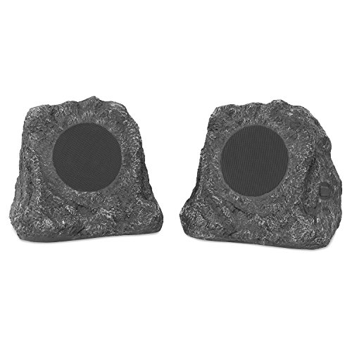 Innovative Technology Powered Wireless Outdoor Speakers (Pair) Gray ITSBO-513P5