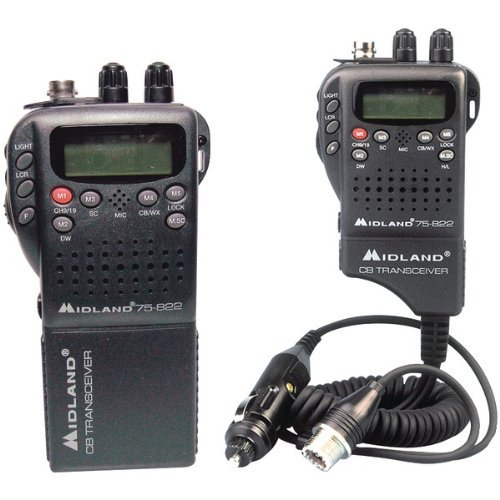 MIDLAND 75-822 Handheld 40-Channel CB Radio with Weather/All