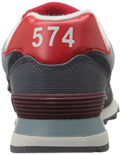 New Balance Heren Ml574 Winter Harbor Pack Klassieke Sportschoen Grijs / Rood