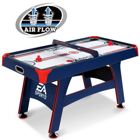 EA Sports 60 Inch Air Powered Hockey Table with Overhead Electronic Scorer