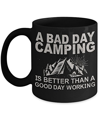 [A Bad Day Camping Coffee Mug - Ultimate Ideal Quality Super Cool Gifts For The Camper] (Super Beer Girl Costume)