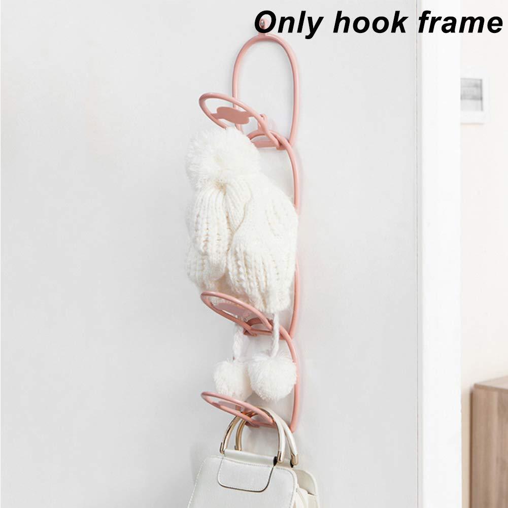 /6/confezione Porta /& a parete rack posteriore porta stoccaggio cappello appeso sopra la porta ganci cappello sciarpa set da baseball Holder organizer/