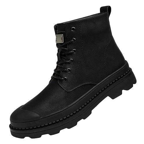 Mens High Help Martin Boots Botines Suela De Goma Cómodo Botines Antideslizantes Zapatos De Herramientas Zapatos De La Motocicleta (Negro): Amazon.es: ...