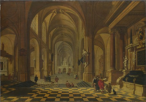 Oil Painting 'Bartholomeus Van Bassen Interior Of A Church ' Printing On Polyster Canvas , 20 X 29 Inch / 51 X 72 Cm ,the Best Bedroom Decoration And Home Gallery Art And Gifts Is This Replica Art DecorativePrints On Canvas ()