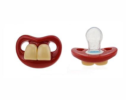 sumtter Chupete tetinas para niños a dos dientes delanteras ...