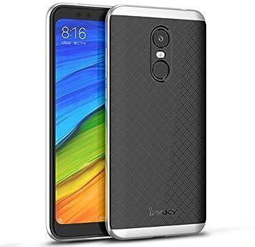 Xiaomi Redmi 5 Plus Funda, Ipaky Protección interna TPU Flexible [Ultra Resistente] Marco Exterior Rígido PC efecto Metal [Anti Golpes] Carcasa Híbrida Bumper Redmi 5 Plus: Amazon.es: Electrónica