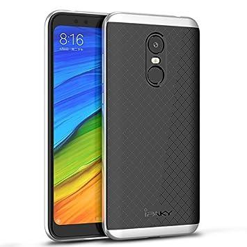 Xiaomi Redmi 5 Plus Funda, Ipaky Protección interna TPU Flexible [Ultra Resistente] Marco Exterior Rígido PC efecto Metal [Anti Golpes] Carcasa ...