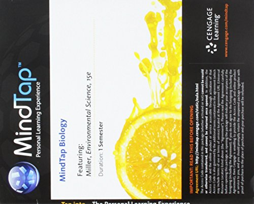 MindTap Environmental Science, 1 term (6 months) Printed Access Card for Miller/Spoolman's Environmental Science (MindTa