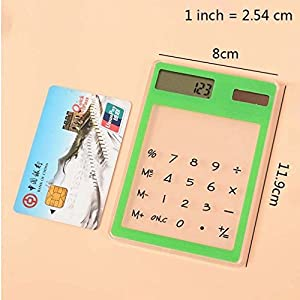 MONOMONO-Mini Ultra Thin Solar Calculator Creative Stationery Portable Office Tools