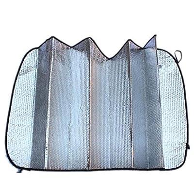 Automotive Windshield Sunshades, SUEKQ Foldable Car Front Rear Block Window UV Ray Protector Heat Reflector Sunshade Visor Cover, 140X70
