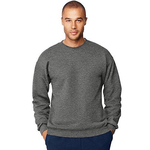 - Hanes Men's Ultimate Cotton Heavyweight Crewneck Sweatshirt_Charcoal Heather_XL