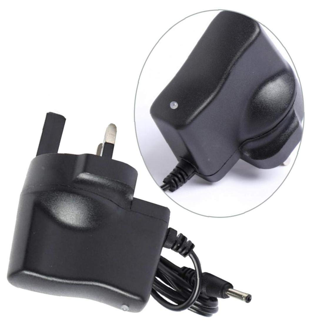 3.5mm Round Plug Car Charger AC 110V 220v to DC 4.2V 0.5A Power Adapter Supplies Plug for 18650 Rechargeable Battery Torch UK Plug