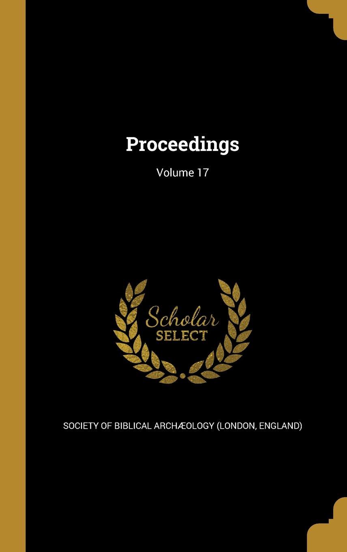 Proceedings; Volume 17 ebook